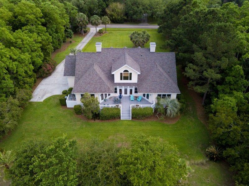 new shingle roof home