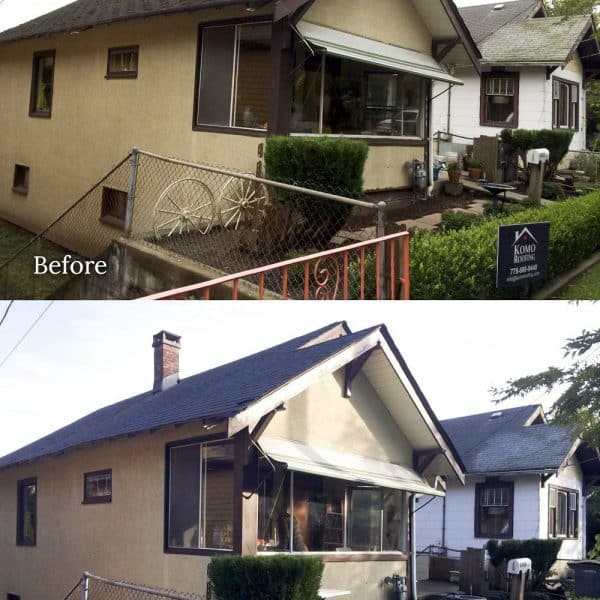 before and after reroofing